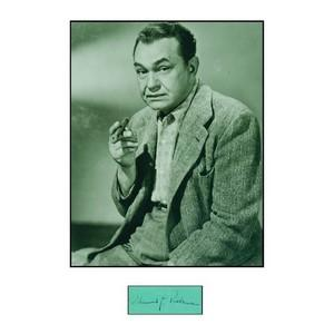 EDWARD G ROBINSON SIGNATURE (FRAMED)
