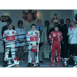Lewis Hamilton, F. Massa, F. Alonso (Framed)