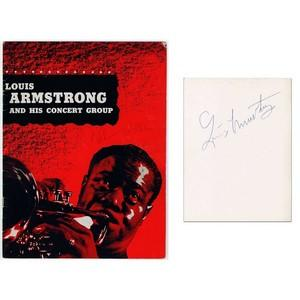 Louis Armstrong Signed Autographed Programme. Supplied with a COA