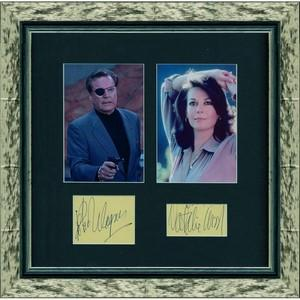 Natalie Wood and Robert Wagner - Signed Colour Photographs - Framed