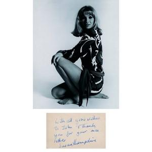 Susan Hampshire Autograph - Black and White Photograph With Signature