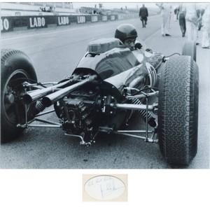 Jim Clark - Autograph - Signed Black and White Photograph