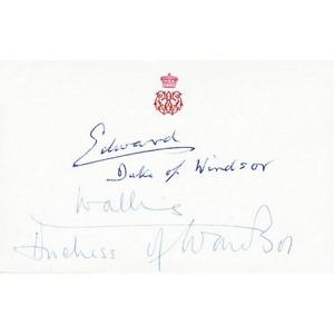 Edward & Wallis Windsor - Signature