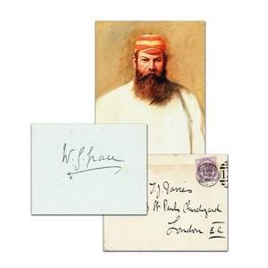 W.G Grace - Autograph - Signature