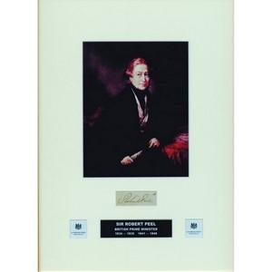 Robert Peel - Signature - Framed
