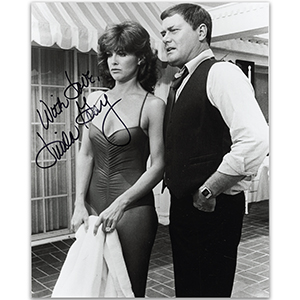 Linda Gray  - Autograph - Signed Black and White Photograph