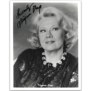 Virginia Mayo - Autograph - Signed Black and White Photograph