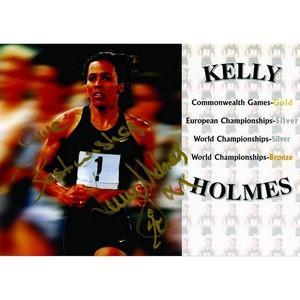 Kelly Holmes - Autograph - Signed Colour Photograph