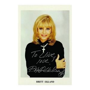 Britt Ekland - Autograph - Signed Colour Photograph