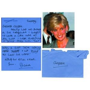 Princess Diana - Signature - Signed Hand-Written Note