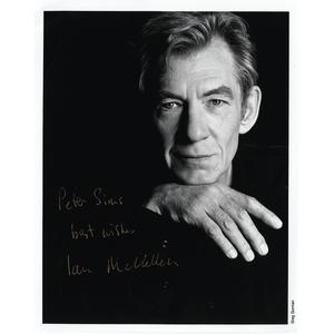 Ian McKellen - Autograph - Signed Black and White Photograph