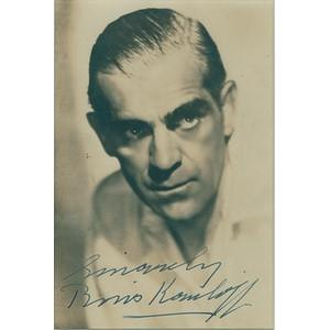 BORIS KARLOFF SIGNED PHOTO (FRAMED)