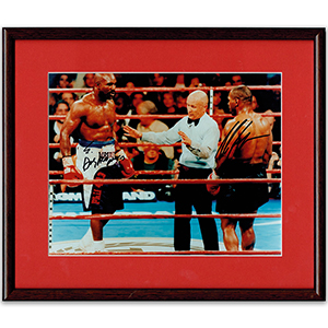 Evander Holyfield & Mike Tyson II  - Autograph - Signed Colour Photograph