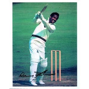 Sir Gary Sobers  - Autograph - Signed Colour Photograph