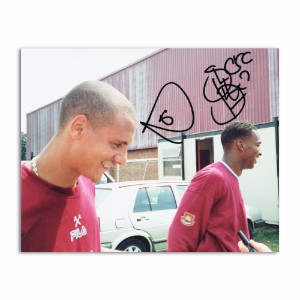 Rio Ferdinand & Shaka Hislop  - Autograph - Signed Colour Photograph