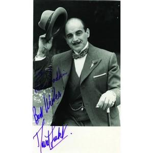 David Suchet - Autograph - Signed Black and White Photograph