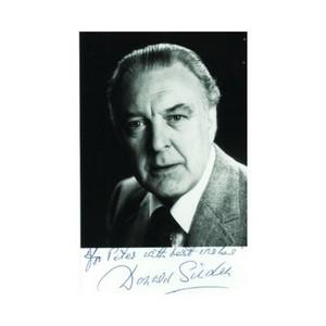 Donald Sinden - Autograph - Signed Black and White Photograph