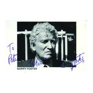 Barry Foster - Autograph - Signed Black and White Photograph
