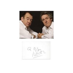 Mel Smith & Griff Rhys Jones  -  Autograph - Signature Mounted with Colour Photograph