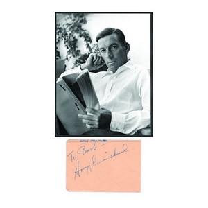 Hoagy Carmichael  -  Autograph - Signature Mounted with Black & White Photograph