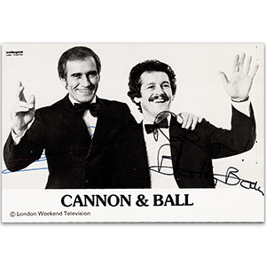 Cannon & Ball - Autograph - Signed Black and White Photograph