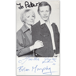 Yootha Joyce & Brian Murphy - Autograph - Signed Black and White Photograph