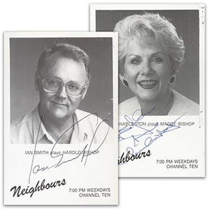 Anne Charleston & Ian Smith - Autograph - Signed Black and White Photograph