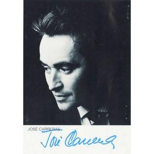 Jose Carreras - Autograph - Signed Black and White Photograph