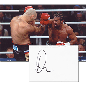 David Haye Signed Photograph