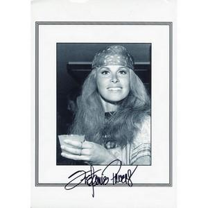 Stephanie Powers - Autograph - Signed Black and White Photograph