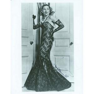 Joan Fontaine Autograph - Autograph - Signed Black and White Photograph