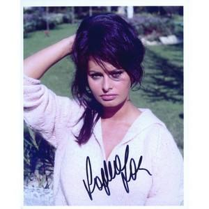 Sophia Loren Signed Colour Photograph