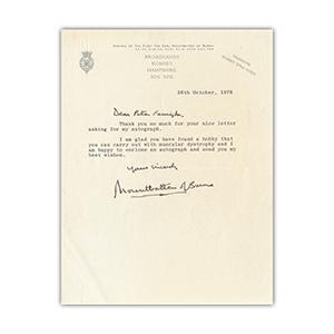 Mountbatten of Burma - Signature - Signed Typed Letter