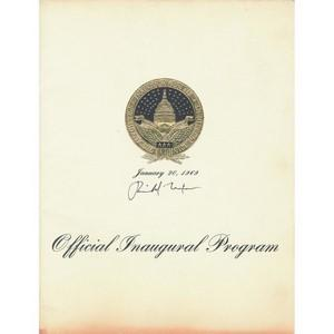 Richard Nixon - Signature - Signed Official Presidential Inaugural Program