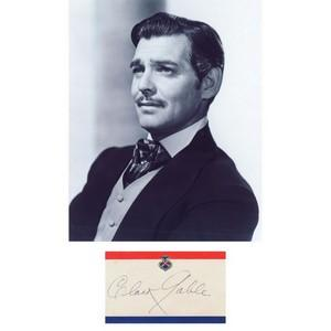 Clark Gable - Autograph - Signed Black and White Photograph