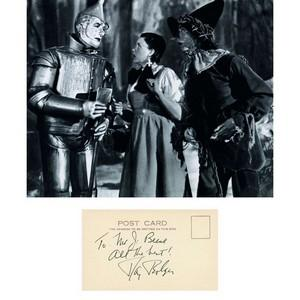 Ray Bolger - Autograph - Signature Mounted with Black & White Photograph