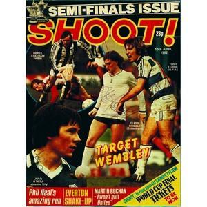 Derek Statham, Tony Currie, Glenn Hoddle & John O'Neill - Autograph - Signed Magazine