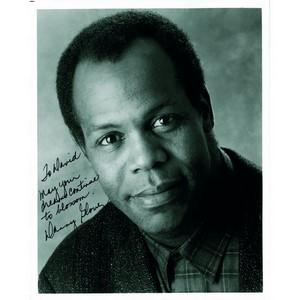 Danny Glover - Autograph - Signed Black and White Photograph