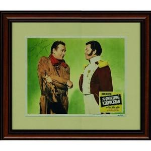 John Wayne - Autograph - Signed Movie Poster - Framed