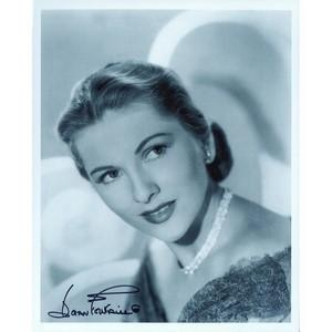 Joan Fontaine - Autograph - Signed Black and White Photograph