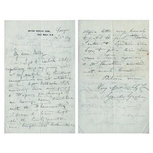 Sir Gerald Graham - Signature - Signed Hand Written Letter