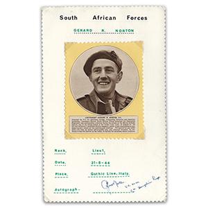 Lt Gerard Norton - Signature - Victoria Cross
