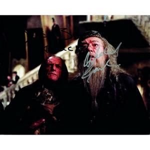 Michael Gambon & David Bradley - Autograph - Signed Colour Photograph