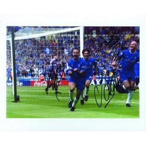 Wise, Zola, LeBeouf - Autograph - Signed Colour Photograph Chelsea FC