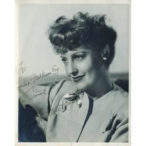 Jeanette MacDonald - Autograph - Signed Black and White Photograph