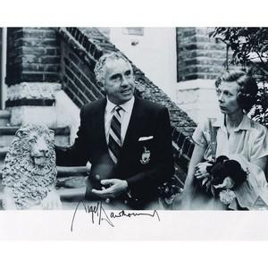 Nigel Hawthorne - Autograph - Signed Black and White Photograph