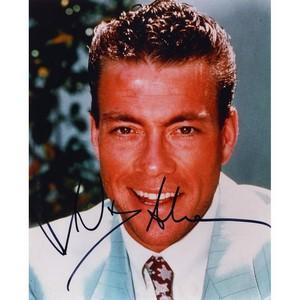 Jean-Claude Van Damme  - Autograph - Signed Colour Photograph