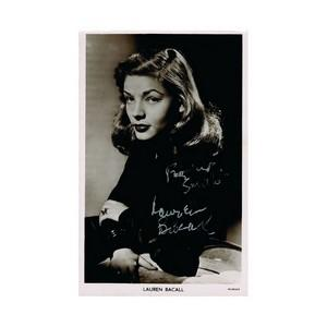 Lauren Bacall - Autograph - Signed Black and White Photograph