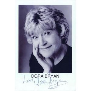 Dora Bryan - Autograph - Signed Black and White Photograph