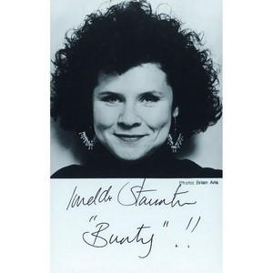 Imelda Staunton - Autograph - Signed Black and White Photograph